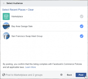 Facebook Marketplace - Audience Post