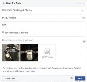 Facebook Marketplace - Item Details
