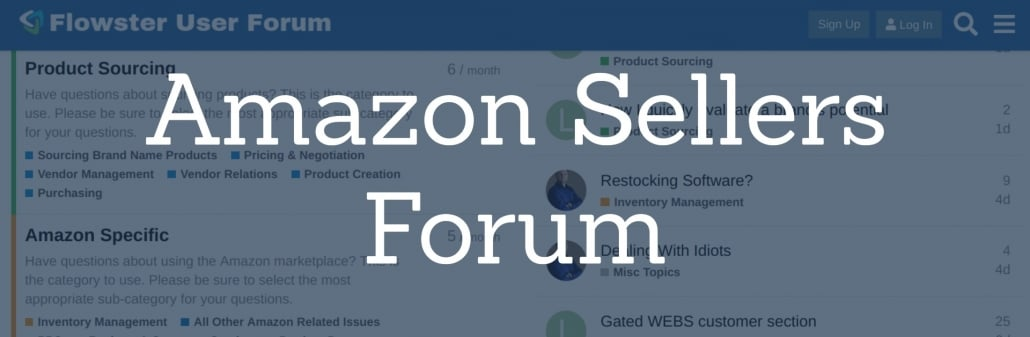 Amazon Sellers Forum | Flowster