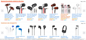 Amazon Product Page - Sponsored Products