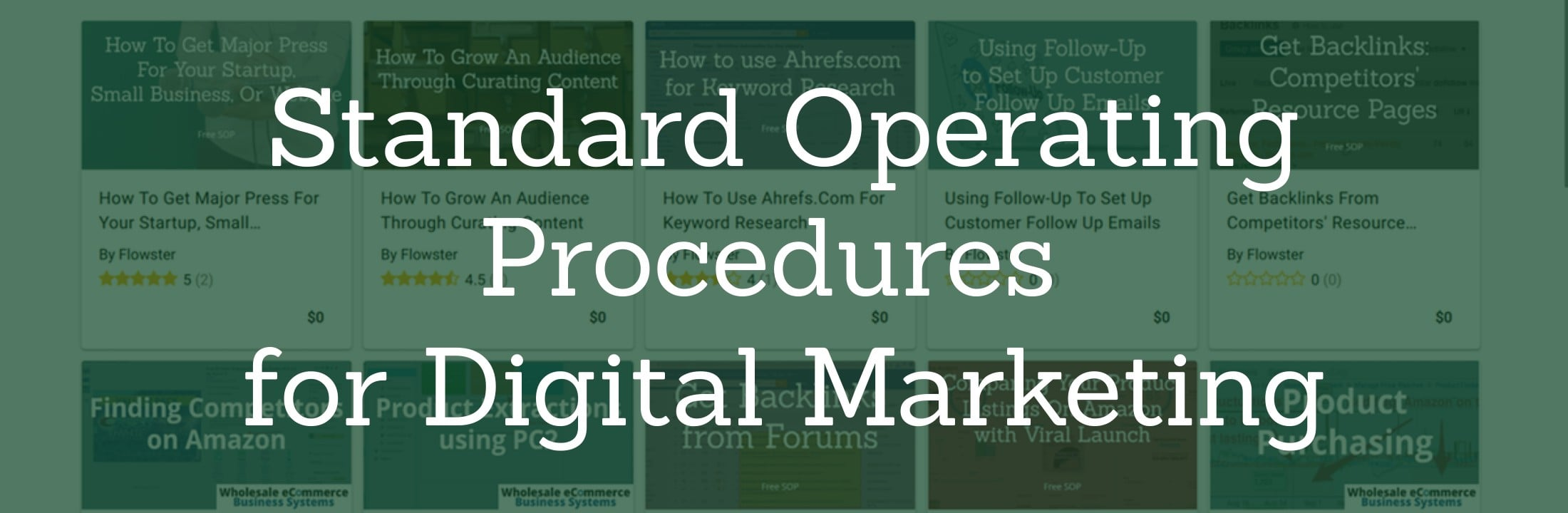 Standard Operating Procedures for Digital Marketing