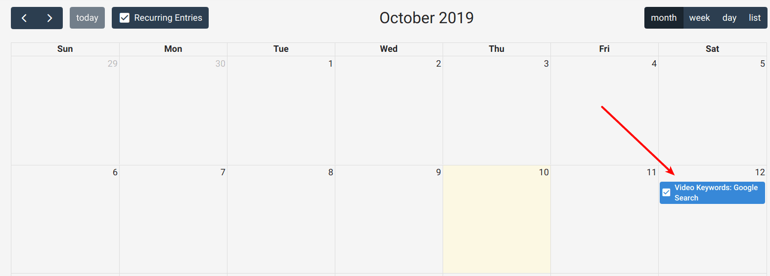 Assigned Task in Calendar