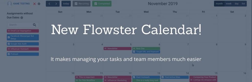 New Flowster Calendar
