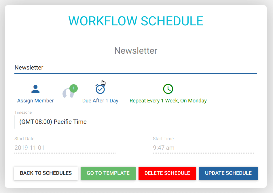 Scheduled Workflow