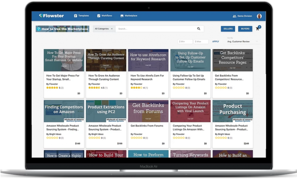 A one-of-a-kind PLAYBOOK marketplace