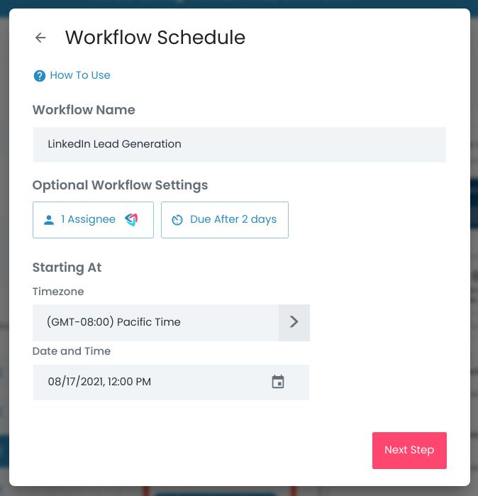 Flowster - Workflow Schedule